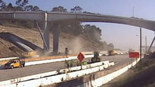 405 closure construction time-lapse video