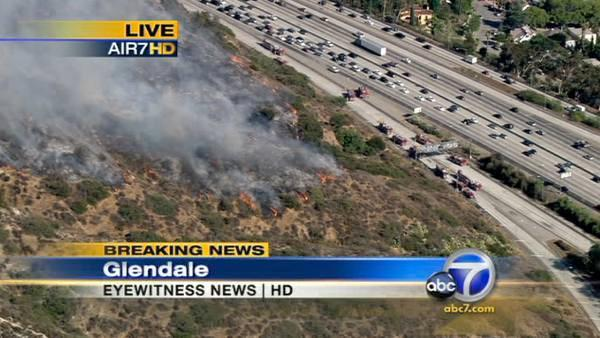 Brush fire in Eagle Rock/Glendale area