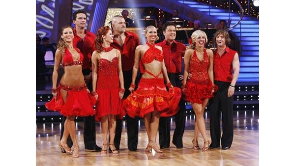 Male contestants on 'Dancing With the Stars,' Sept. 21, 2009