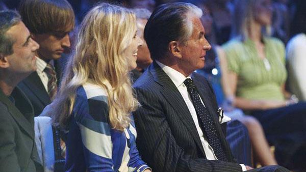 Alana Stewart and George Hamilton in audience at 'Dancing With the Stars,' Sept. 21, 2009