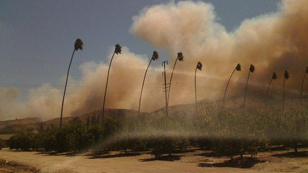 Brush fire breaks out in Ventura County