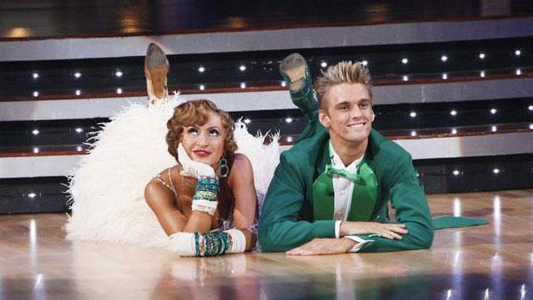 Aaron Carter and Karina Smirnoff perform on 'Dancing With the Stars,' Sept. 28, 2009