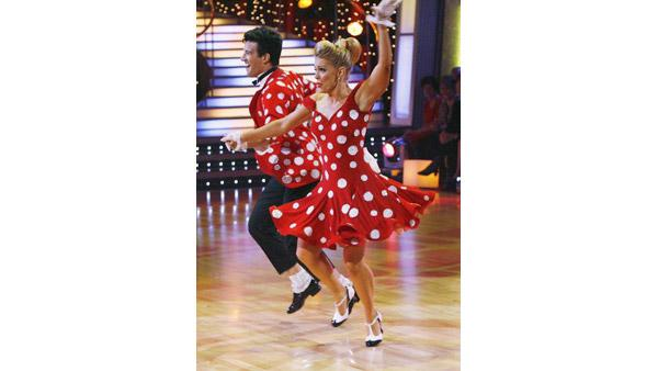 Melissa Joan Hart and Mark Ballas perform on 'Dancing With the Stars,' Sept. 28, 2009