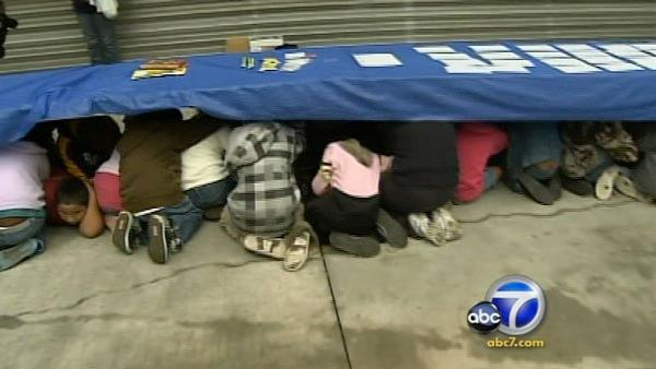Calif. drops, covers for annual ShakeOut