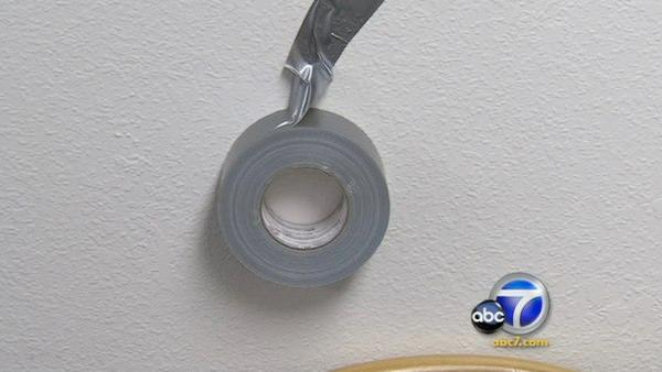 Husband binds wife with duct tape