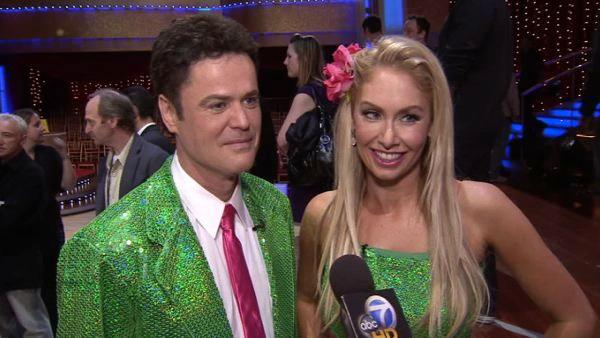 Donny Osmond backstage at 'Dancing'