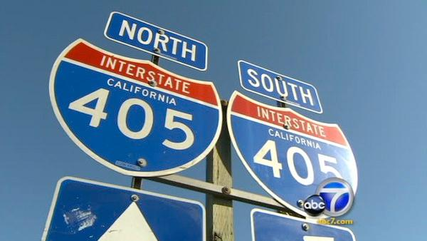 Widening 405 pits O.C. against L.A. County