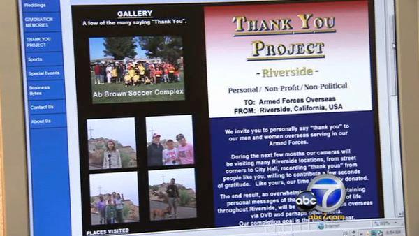 Riverside man gives many 'thanks' to troops
