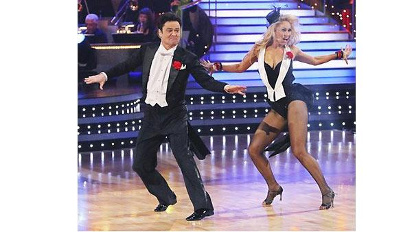 Donny Osmond and Kym Johnson dance the first round Monday night on 'Dancing With the Stars,' Monday,