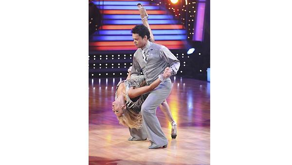 Donny Osmond and Kym Johnson dance the first round Monday night on 'Dancing With the Stars,' Monday, N