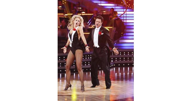 Donny Osmond and Kym Johnson dance the first round Monday night on 'Dancing With the