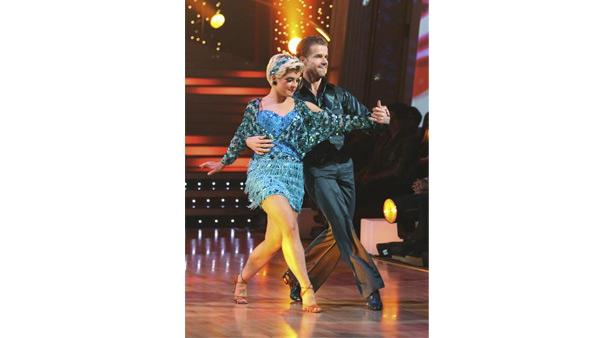 Kelly Osbourne and Louis Van Amstel dance the first round Monday night on 'Dancing With the Stars,' Monday, November 23, 2009