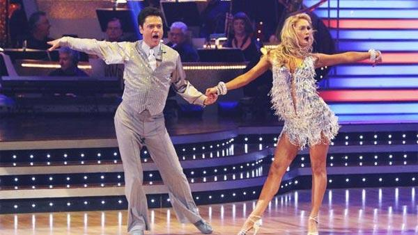 Donny Osmond and Kym Johnson dance the first round Monday