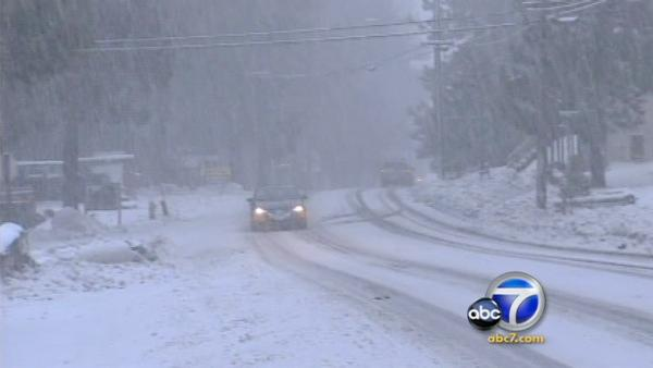 Storm brings traffic hazard to mountain roads