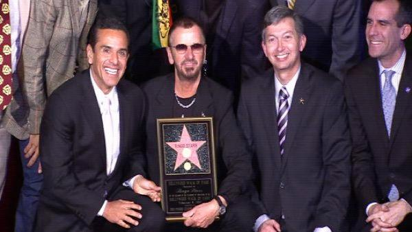 Ringo Starr gets star on Walk of Fame