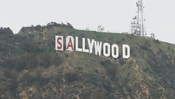 Preservation campaigners cover Hollywood sign