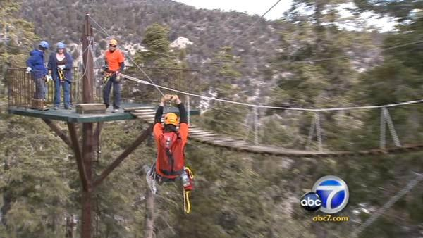 I.E.'s biggest zip-line opens for business