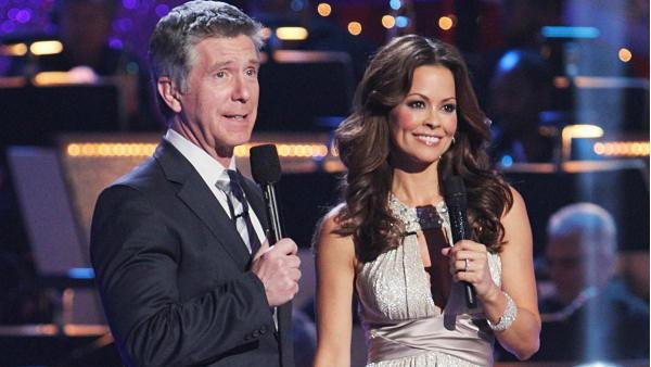 Brooke Burke, the season 7 champion, joined Tom Bergeron for her first night as the new co-host for