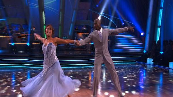 NFL Star Chad Ochocinco and partner Cheryl Burke take on the foxtrot on week two of 'Dancing With the Stars.'
