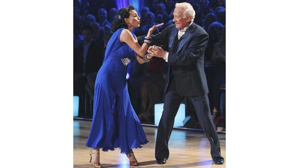 Buzz Aldrin and Ashly Costa perform on 'Dancing With the Stars,' Monday, March 29, 2010. The judges gave the couple 12 points out of 30.