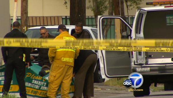 Burning body found near Compton High School