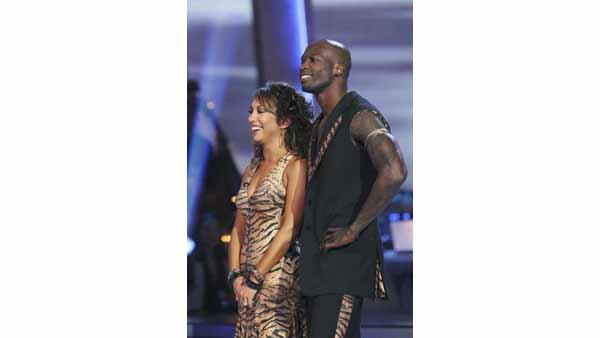 Chad Ochocinco and Cheryl Burke perform on week five of 'Dancing With the Stars,' Monday, April 19, 2010.