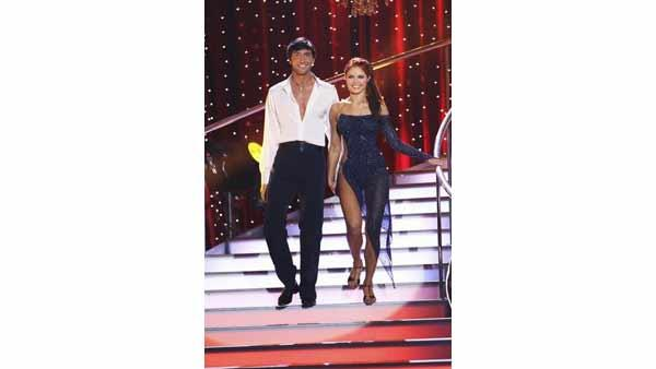 Evan Lysacek and Anna Trebunskaya on week five of 'Dancing With the Stars,' Monday April 19, 2010. The judges gave the couple 27 points out of 30.