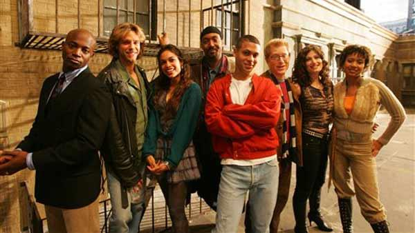 (The cast of the film 'Rent', from left, Taye Diggs, Adam Pascal, Rosario Dawson, Jesse Martin, Wilson Jermaine Heredia, Antho
