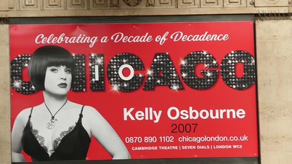 Kelly Osbourne played Mama Morton in the London production of the musical 'Chicago' in 2007.
