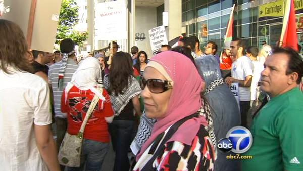 L.A. protesters rally against Israel attack