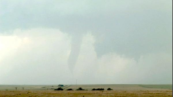 This marks the fourth year Dallas went to 'Tornado Alley' with colleagues from Tempest Tours.