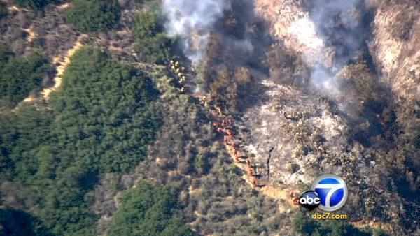 The Ventura County Fire Dept. responded to a 2-alarm brush fire in Camarillo Tuesday afternoon.