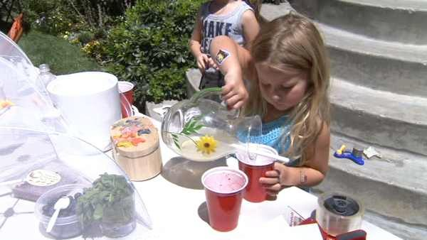 Local kids use lemonade stand to help Haiti