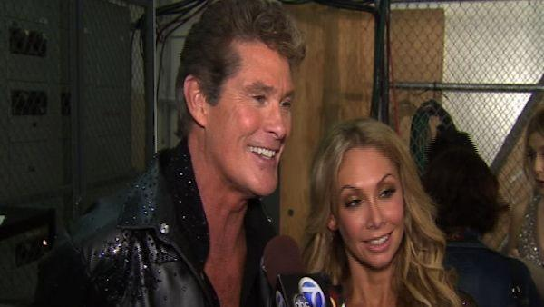David Hasselhoff talks after 1st results show