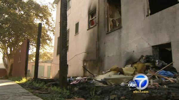 Mentally challenged displaced by L.A. fire