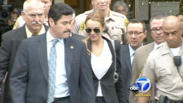 In October 2010, a judge ordered Lindsay Lohan to return to rehab instead of jail for a failed drug test. - Provided courtesy of KABC