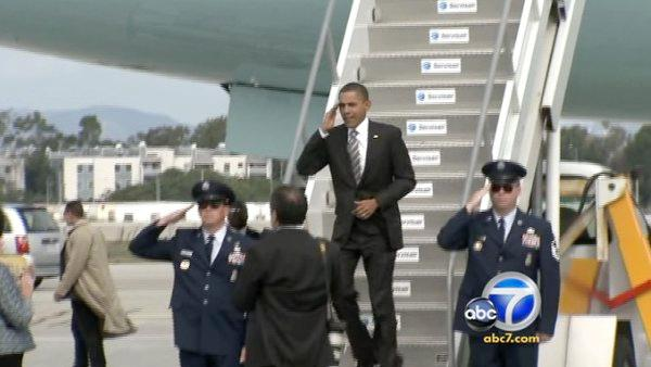 Pres. Obama campaigns for Dems in Los Angeles