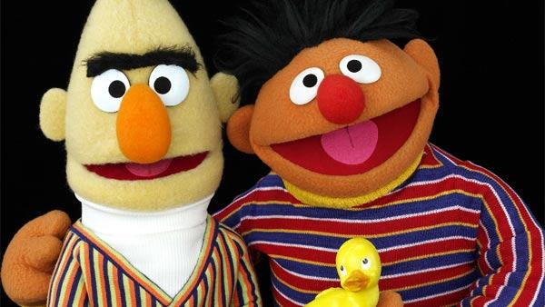 Bert and Ernie appear in a scene from Sesame Street. - Provided courtesy of Sesame Workshop / PBS