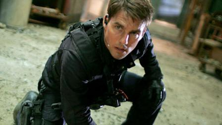 Tom Cruise in a scene from Mission Impossible 3.