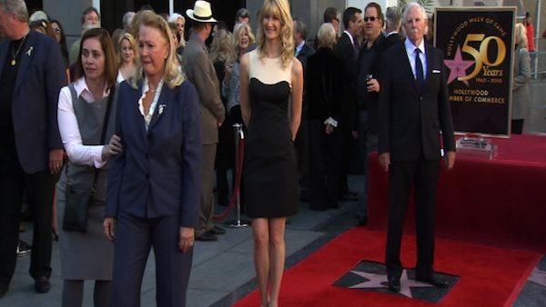 Laura Dern and parents get Hollywood Stars
