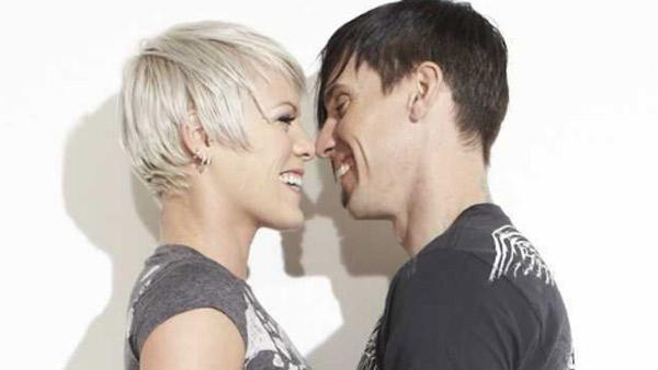 Pink and Carey Hart appear in an undated 2010 photo posted on her Twitter page. - Provided courtesy of twitter.com/PINK