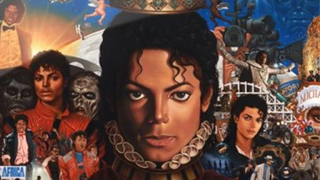 Michael Jackson appears on the cover of his 2010 album, Michael.