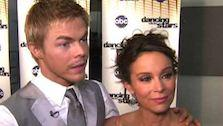 Jennifer Grey and Derek Hough talks week 9 of Dancing With the Stars following their performance. - Provided courtesy of KABC