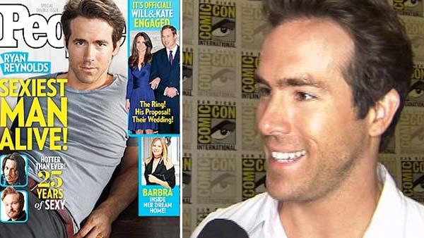 Ryan Reynolds appears on the cover of People magazine in November 2010 / Ryan Reynolds speaks to OnTheRedCarpet.com at Comic-Con 2010 in San Diego, California on July 26, 2010. - Provided courtesy of People magazine / KABC