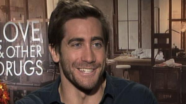 Jake Gyllenhaal speaks to George Pennacchio of KABC Television, OnTheRedCarpet.coms parent company, in November 2010 to promote his new film with Anne Hathaway, Love and Other Drugs. - Provided courtesy of KABC