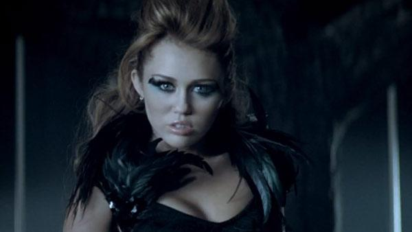 Pictured: Miley Cyrus appears in the music video for 'Can't Be Tamed.)