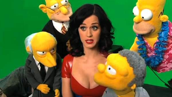 Check out a sneak peek of Katy Perrys live-action guest role on The Simpsons including Simpsons puppets! - Provided courtesy of Fox