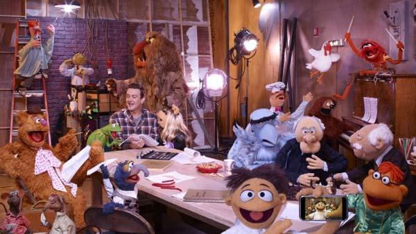Jason Segel and The Muppets appear in this undated 2010 photo. - Provided courtesy of Andrew Macpherson / The Muppets Studio, LLC