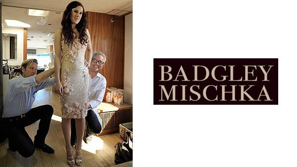 Rumer Willis poses with designers Mark Badgley and James Mischka of Badgley Mischka. It was announced on Dec. 16, 2010 that she would star in the brands spring 2011 ad campaigns. - Provided courtesy of facebook.com/BadgleyMischka