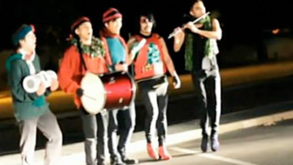 Loud late-night carolers get visit from cops